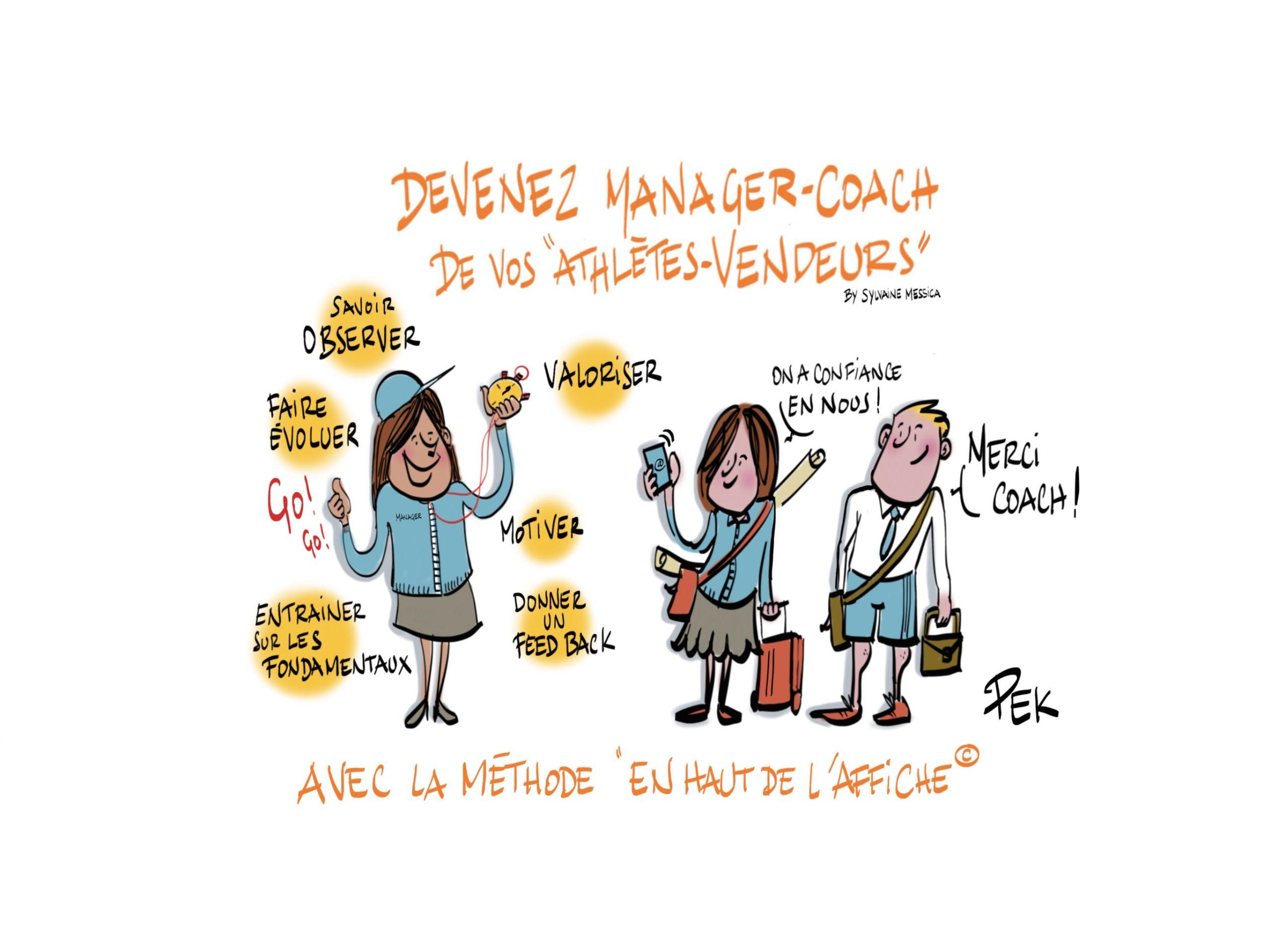 Manager-coach, une formation de EN HAUT DE L'Affiche, animée par Sylvaine Messica et son équipe
