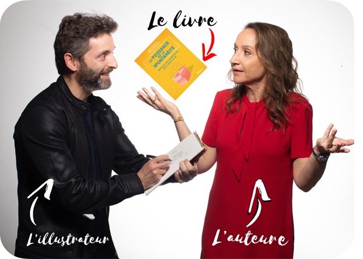 La puissance de la spontanéité, livre Eyrolles de Sylvaine Messica, illustré par Philippe-Elie Kassabi