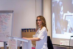 Discours de Simone Veil interprétée pendant la conférence de Sylvaine Messica