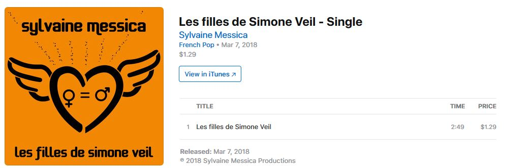 Les filles de Simone Veil - Single by Sylvaine Messica on iTunes