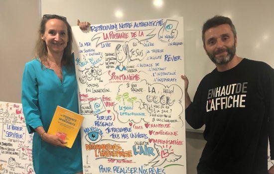 facilitation graphique de la conférence de Sylvaine Messica, par Philippe-Elie Kassabi