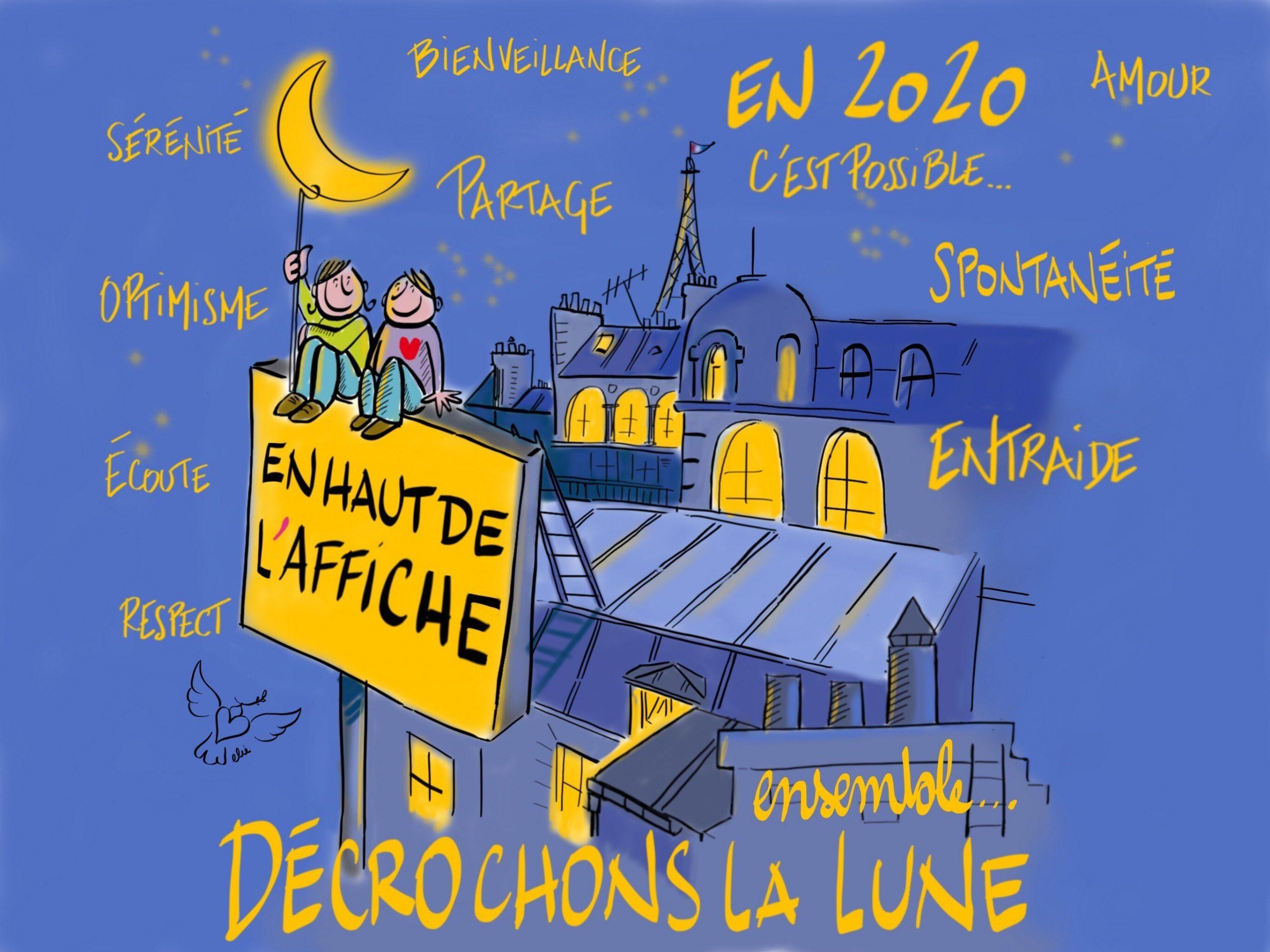Voeux EN HAUT DE L'AFFICHE illustration par Philippe-Elie Kassabi (c)
