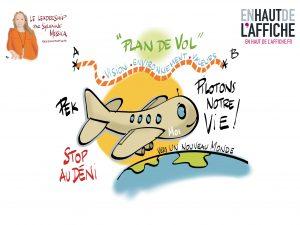 Piloter sa vie c'est être leader pour soi ! Webinaire de Sylvaine Messica dessinée par Philippe-Elie Kassabi
