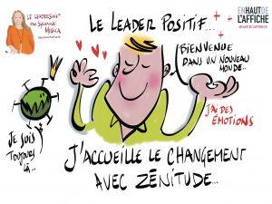 Le leader positif illustration de philippe-Elie Kassabi pendant le webinaire de Sylvaine Messica
