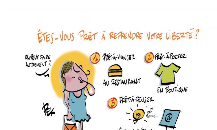 Prêt-à-penser illustration PEK article Sylvaine Messica