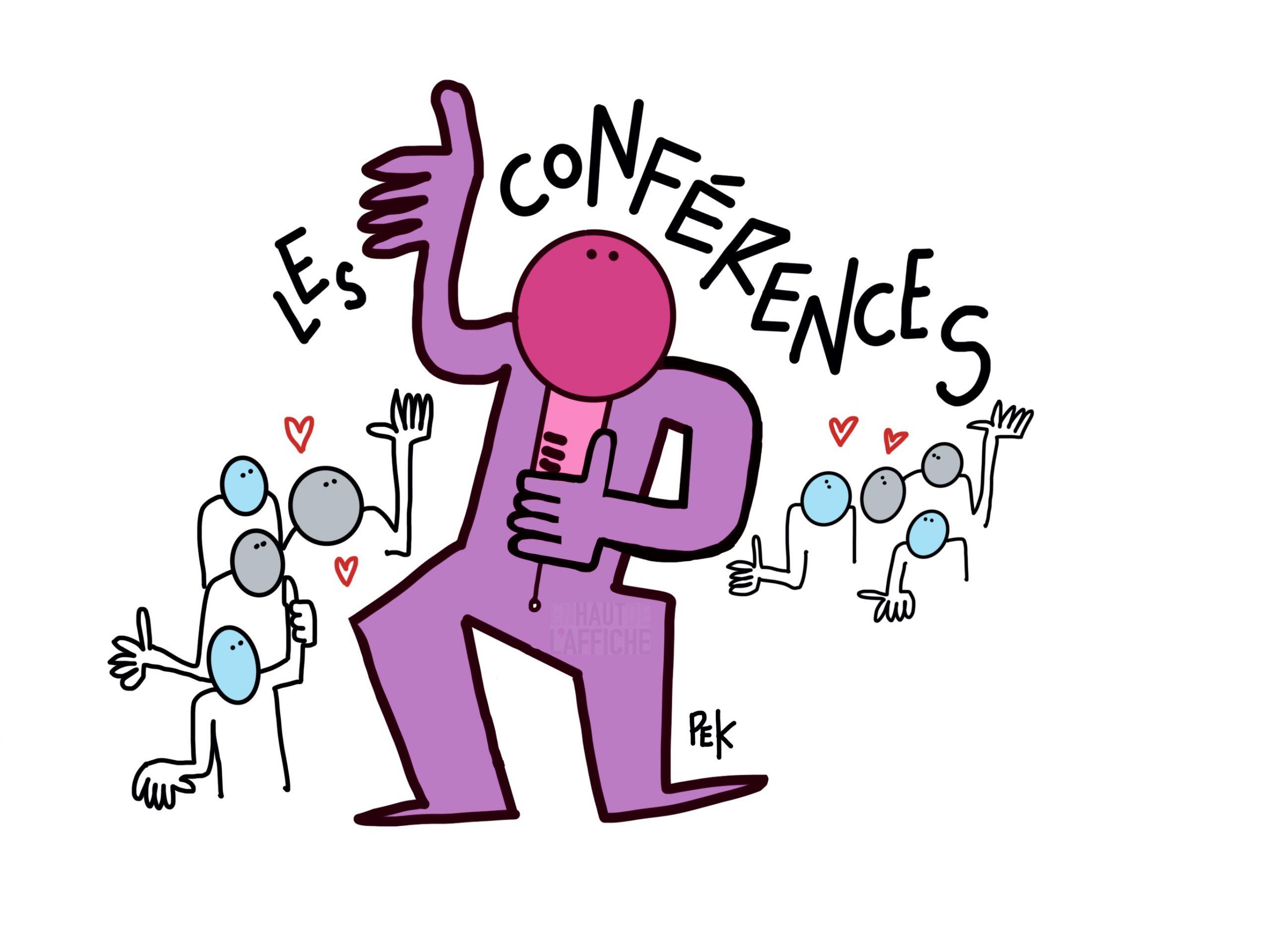 EN HAUT DE L'AFFICHE Conférences