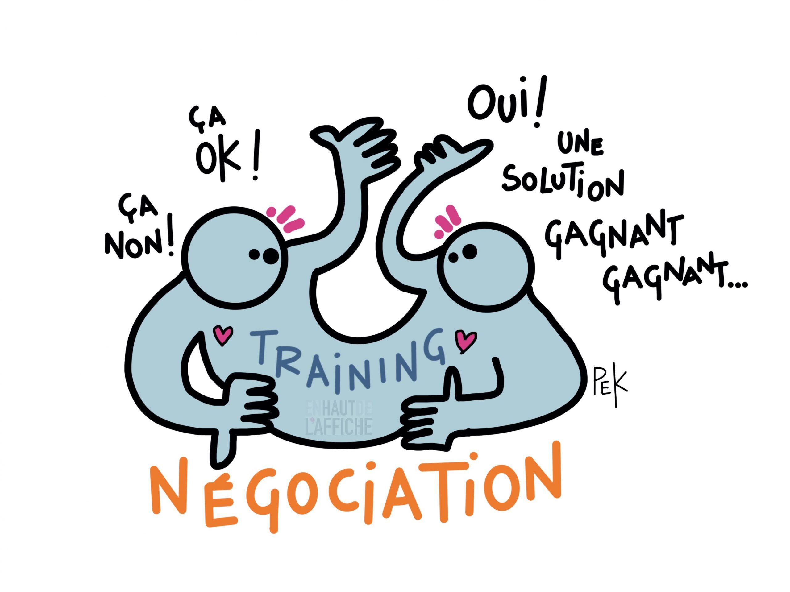 EN HAUT DE L'AFFICHE Nėgociation