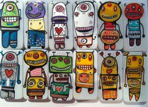 Happy robots in Paris. Botjoy en haut de l'affiche ! Cherchez-les...