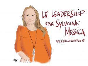 Le leadership série Webinaire par Sylvaine Messica dessinée en live par Philippe-Elie Kassabi